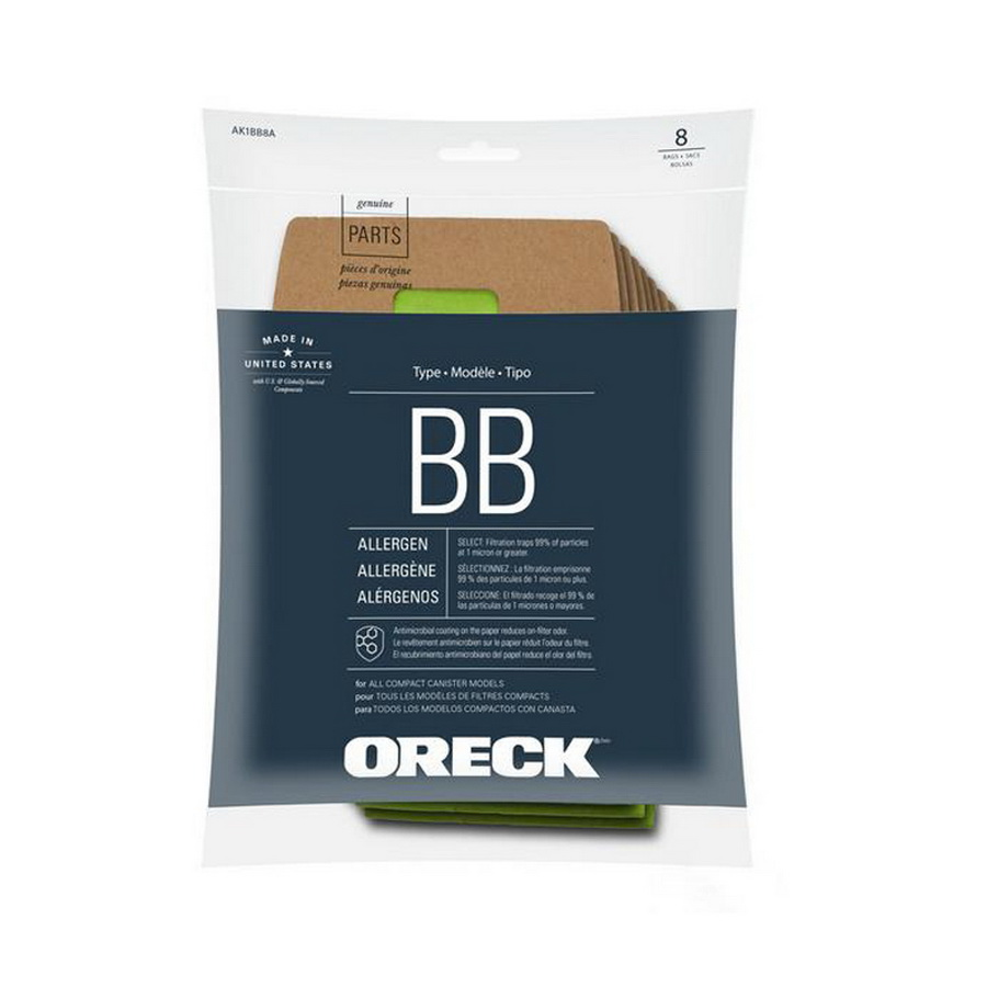 Oreck AK1BB8A Handheld Filtration Bags (8 pack)