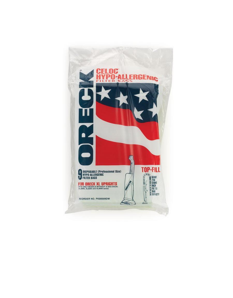 Oreck PK80009DW Commercial Upright Vacuum Bags (9 pk)