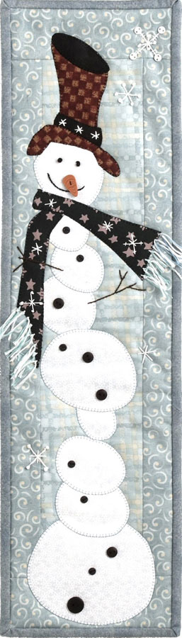 Patch Abilities - Tipsy Snowman Pattern 6 inches x 22 inches