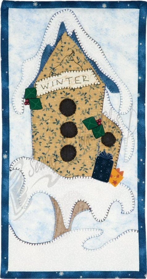 Patch Abilities Monthly Mini MM14 Winter Whimsy Birdhouse