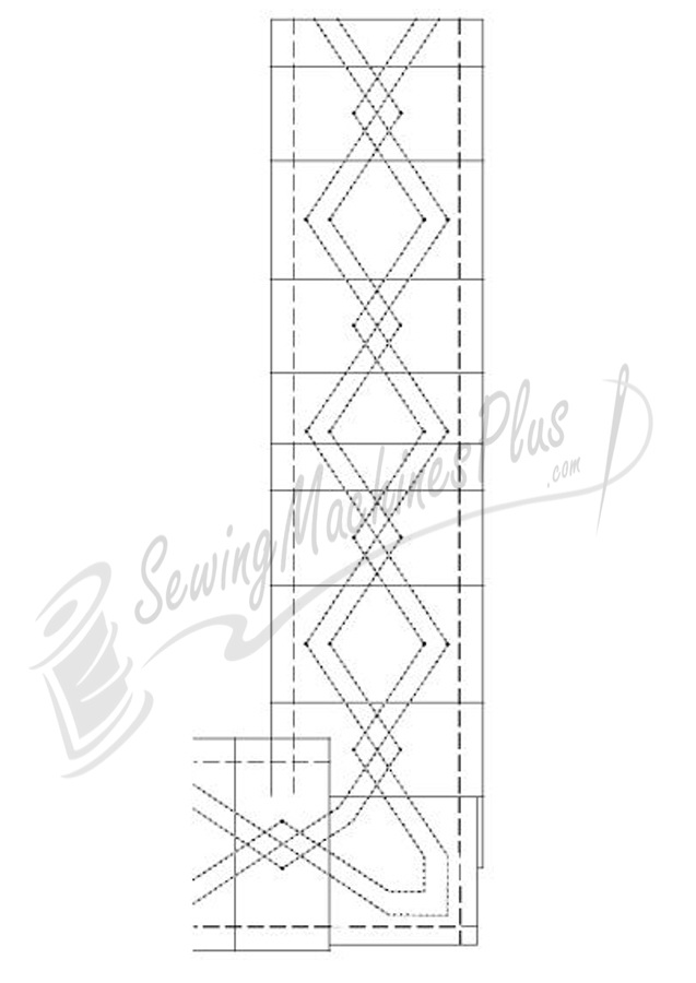 Borders Made Easy Pantograph 26ft. of 3in. border pattern (107)