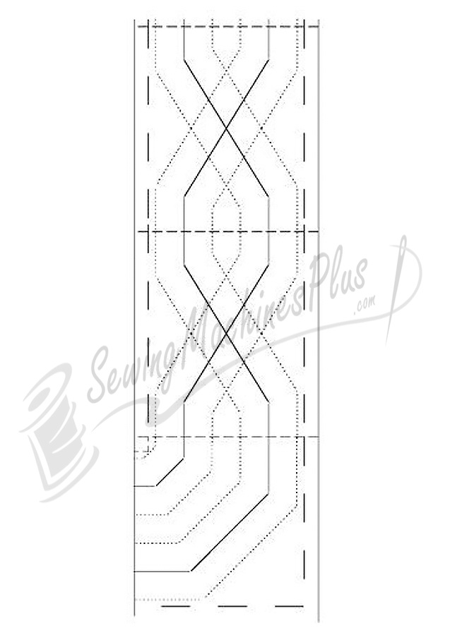Borders Made Easy Pantograph 26ft. of 5in.  Wide Border Pattern (116)