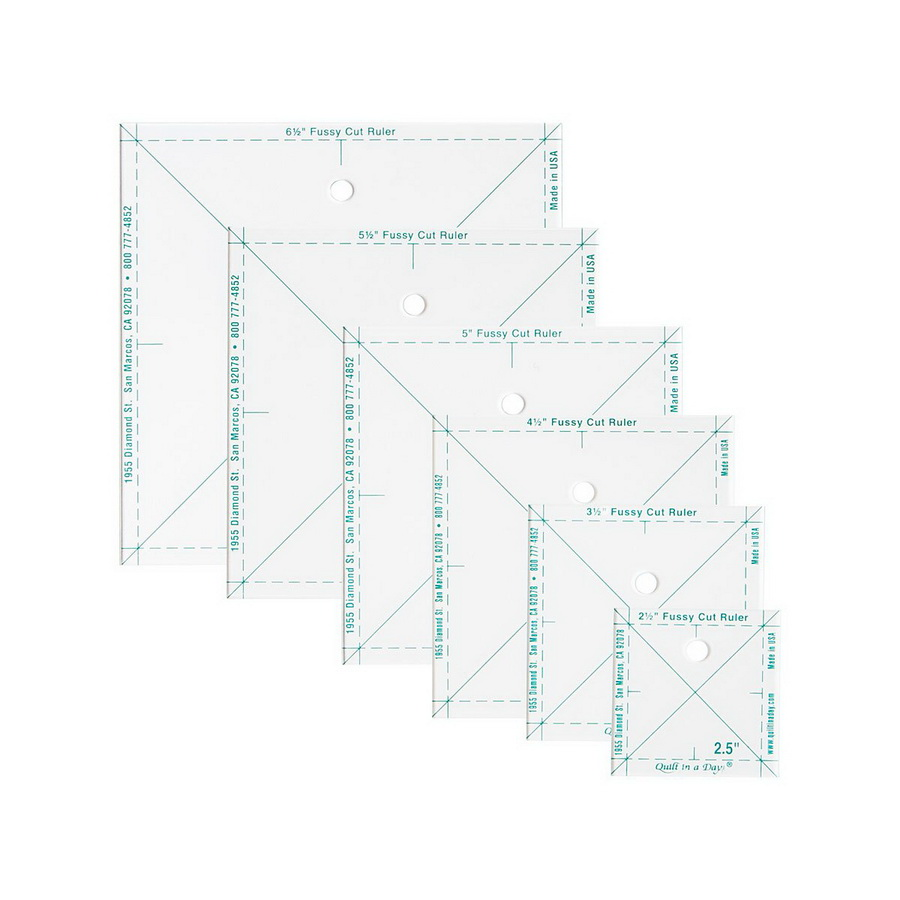 Quilt in a Day Complete Fussy Cut Ruler Set (QD2056)