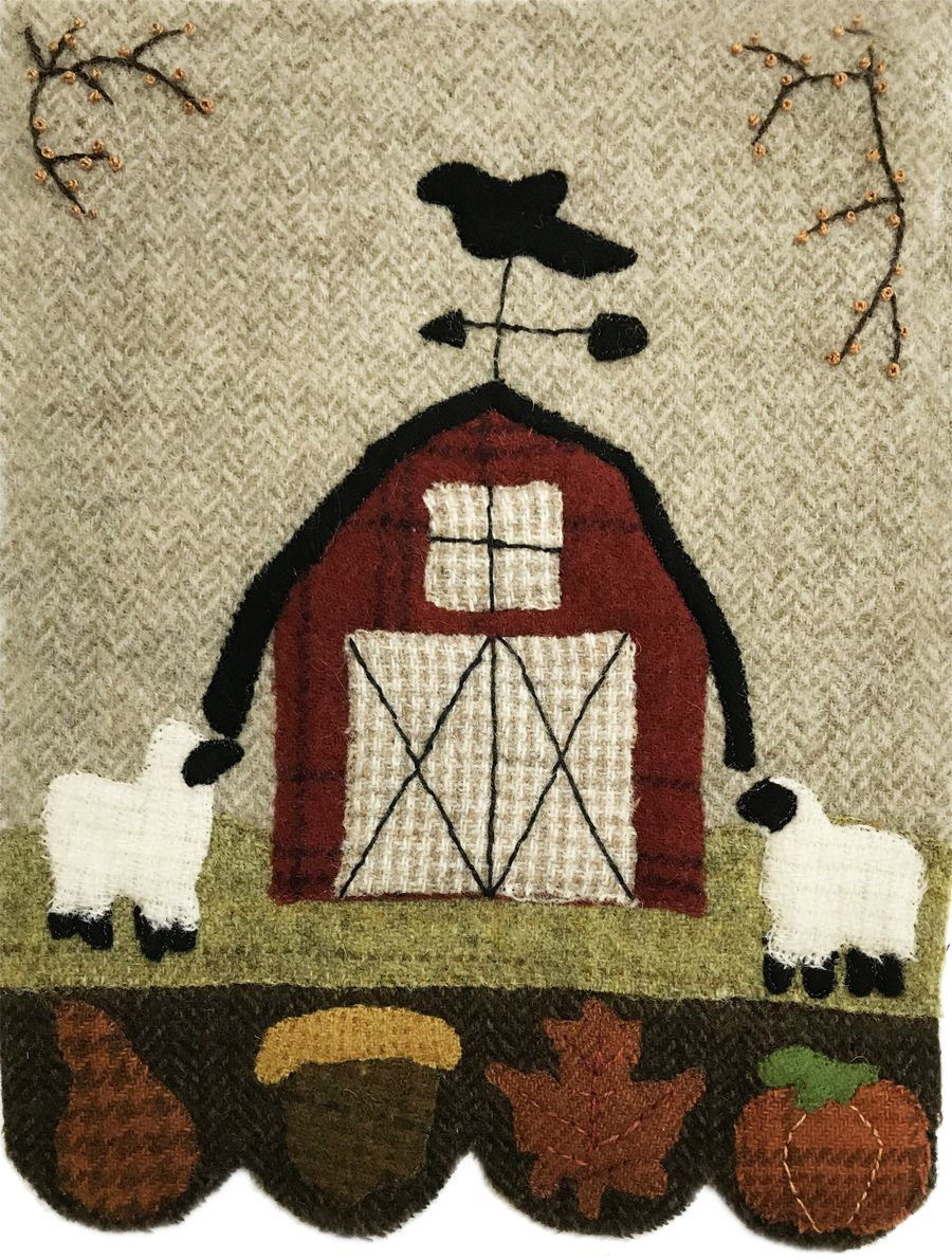 Quilter's Paradise Simply Sheep September Pre-Cut Wool Kit