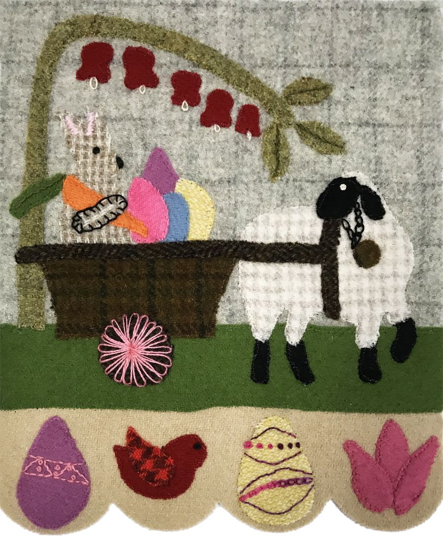 Quilter's Paradise Simply Sheep April Pre-Cut Wool Kit