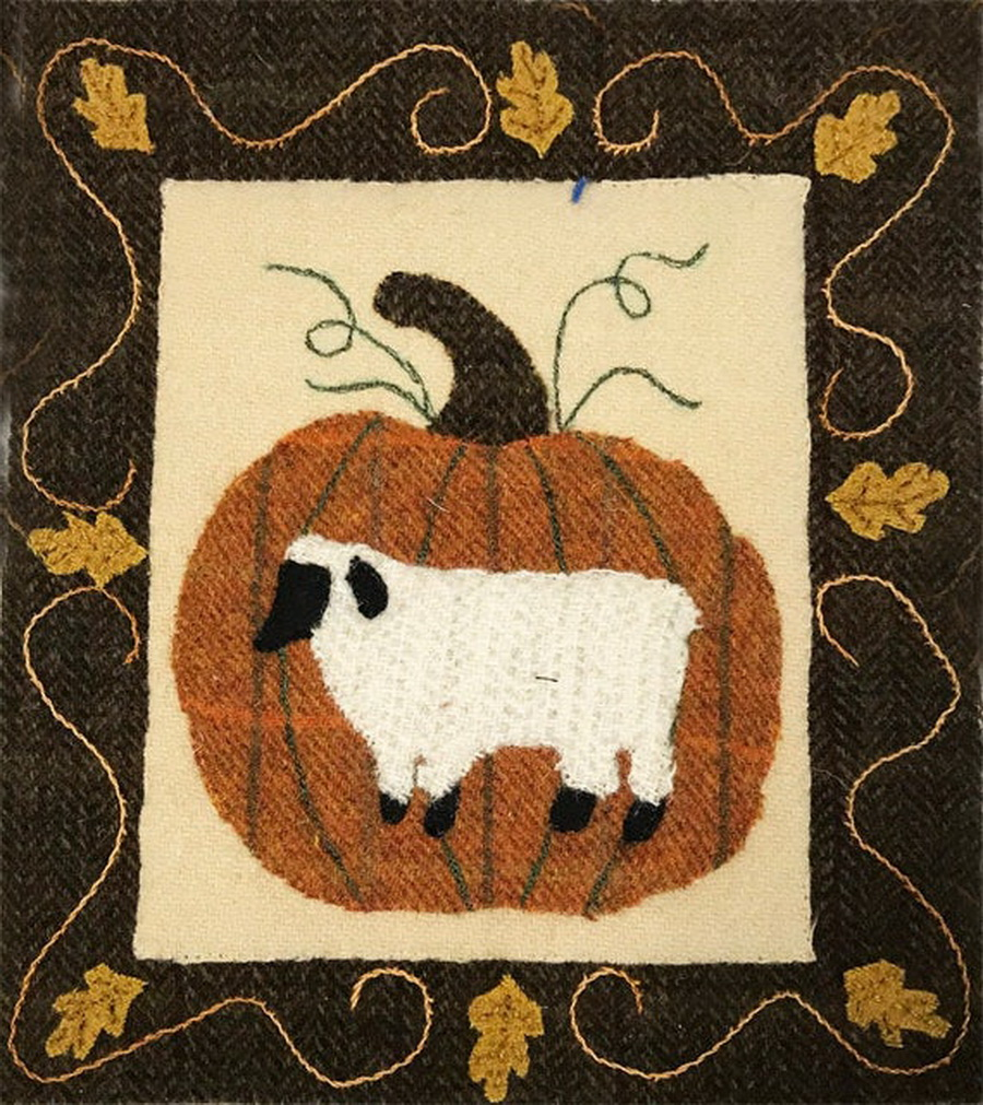 Quilter's Paradise Simply Sheep October Pre-Cut Wool Kit
