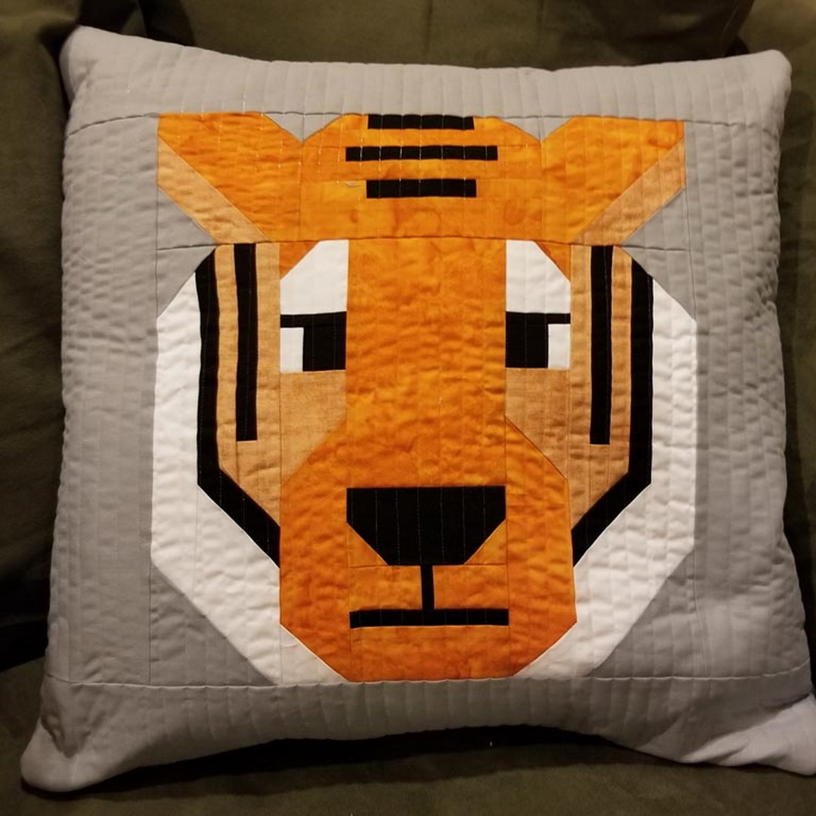 Quilter's Paradise Antonia Tiger Pillow Cover Kit