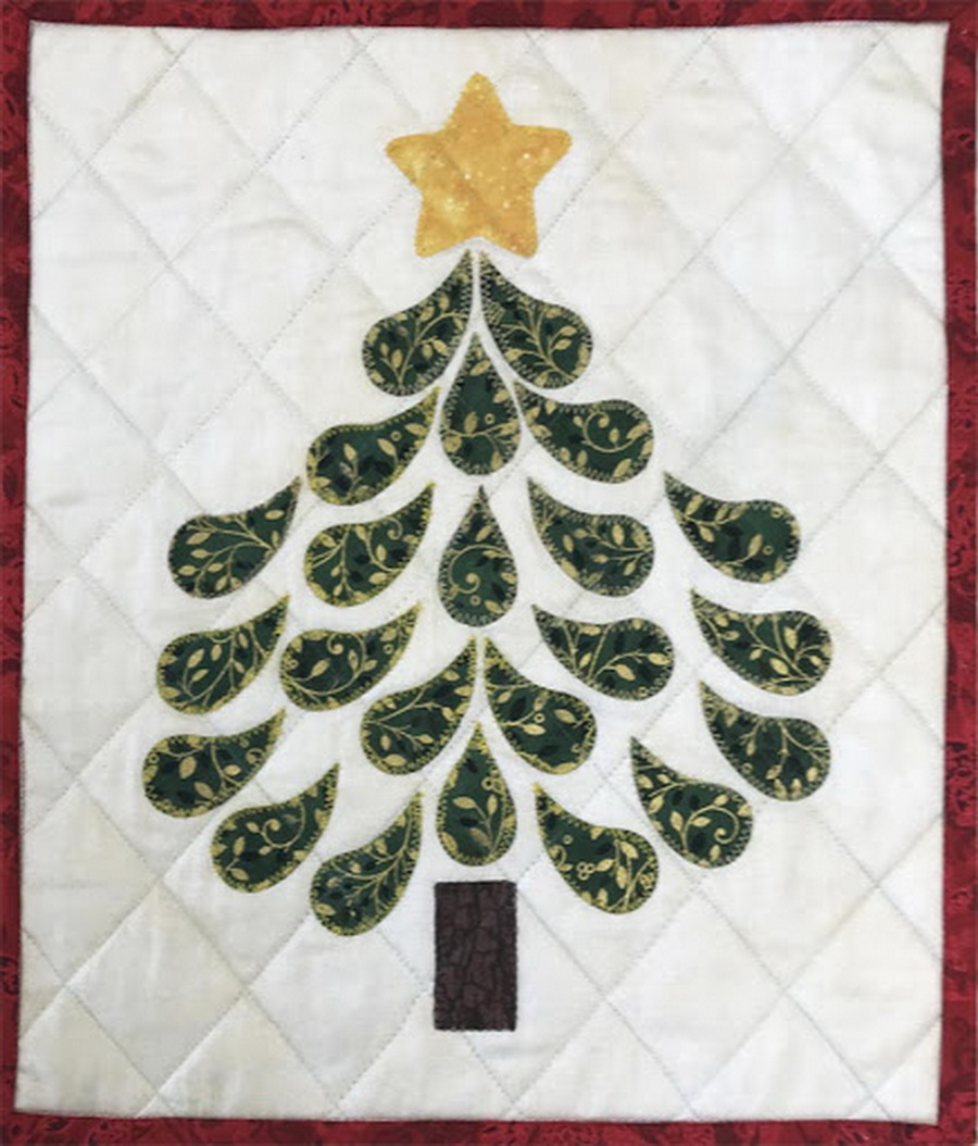 Quilter S Paradise Christmas Tree Wall Hanging Fabric Kit