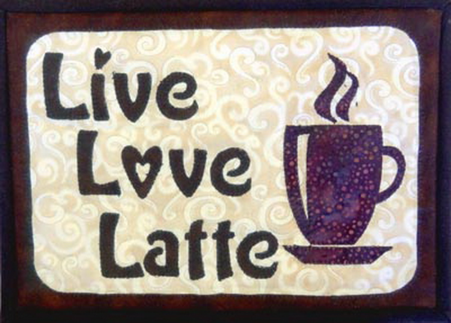Quilter's Paradise Live, Love, Latte Mug Rug Fabric Kit