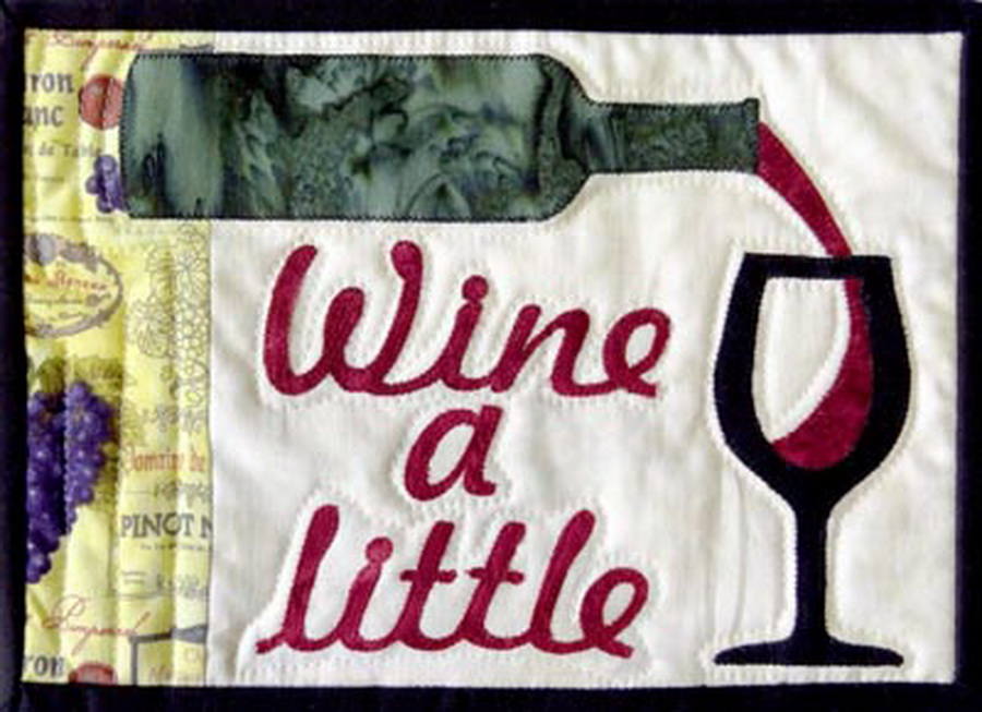 Quilter's Paradise Wine A Little Mug Rug Fabric Kit