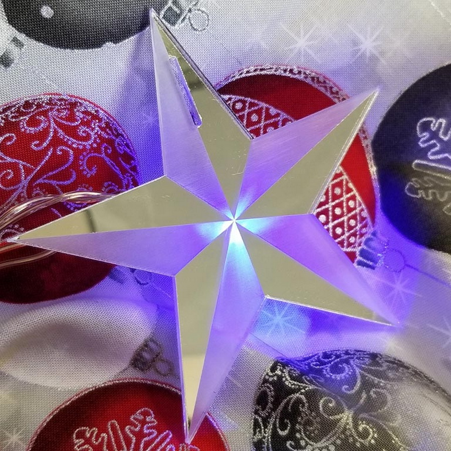 Quilter's Paradise Reflections Star Mirrored Ornament