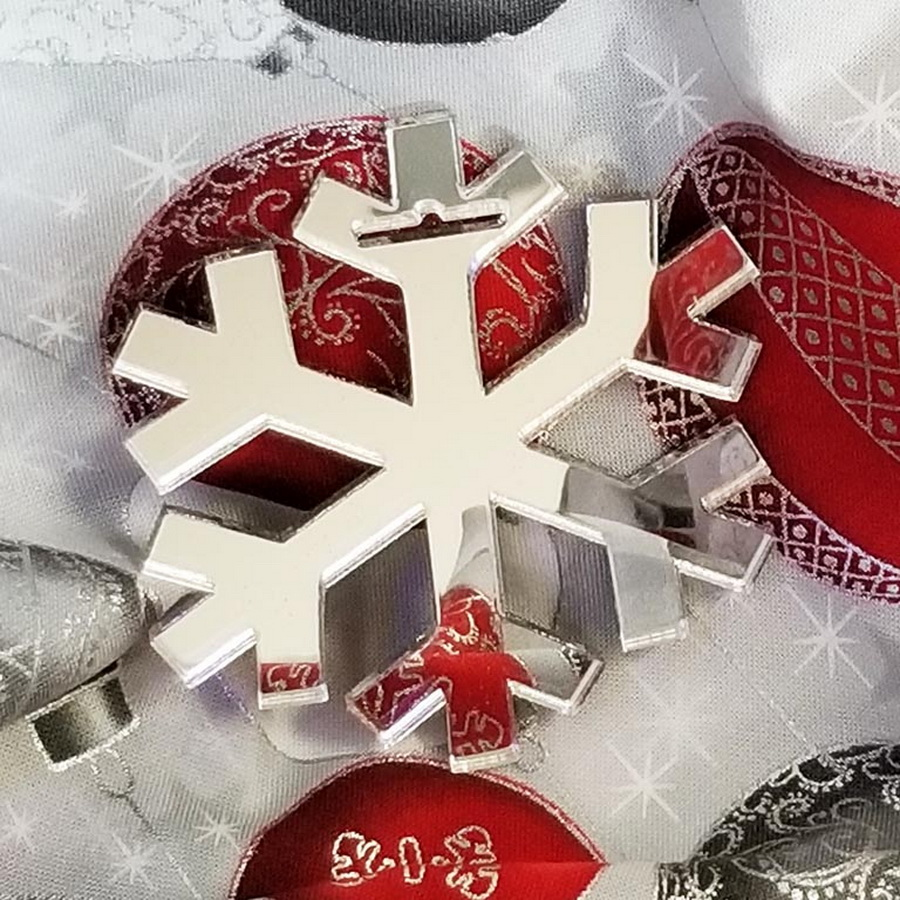 Quilter's Paradise Reflections Snowflake Mirrored Ornament