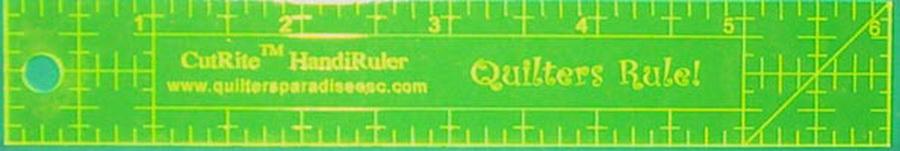 Quilters Paradise Engraved CutRite Handi Ruler