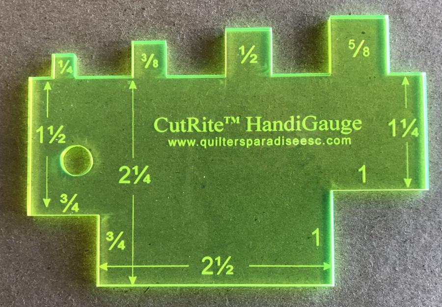 Quilters Paradise CutRite HandiGauge