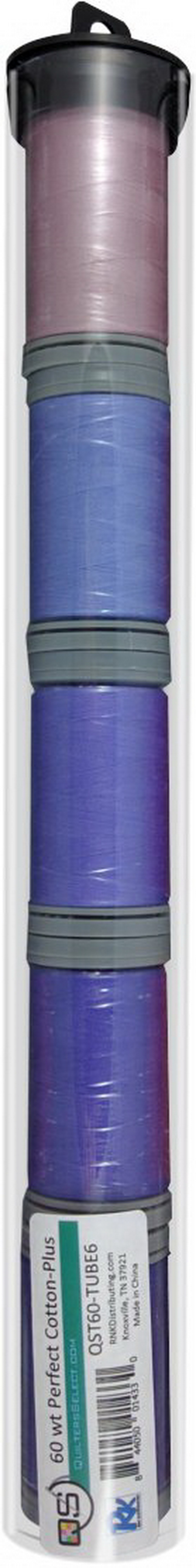 Quilters Select Perfect Cotton Plus Thread 60 Weight 400m Spools - Bundle Tube 6