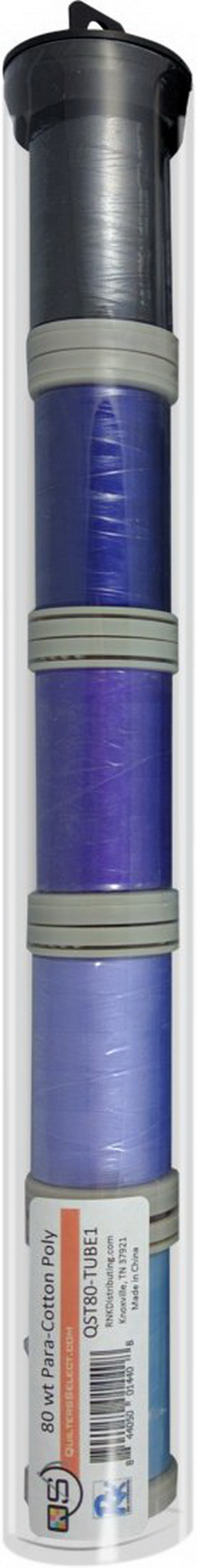Quilters Select Para-Cotton Polyester Thread 80 Weight Tube Bundle 1
