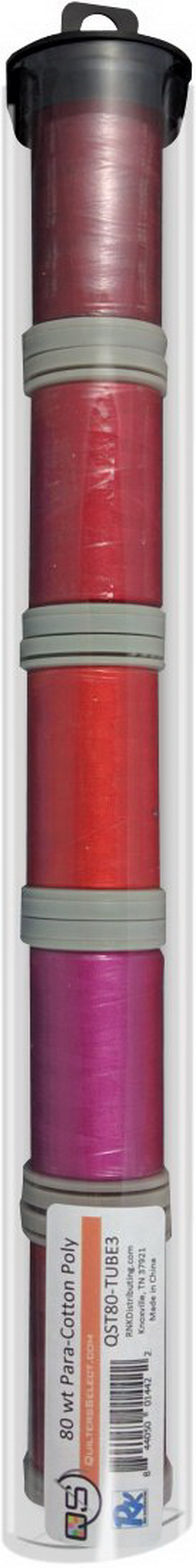 Quilters Select Para-Cotton Polyester Thread 80 Weight Tube Bundle 3