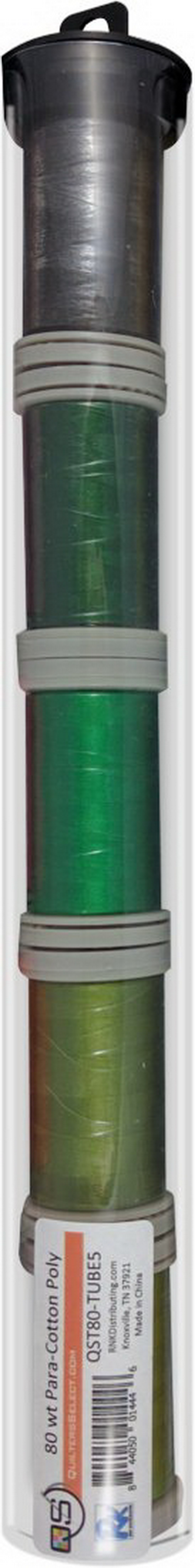 Quilters Select Para-Cotton Polyester Thread 80 Weight Tube Bundle 5