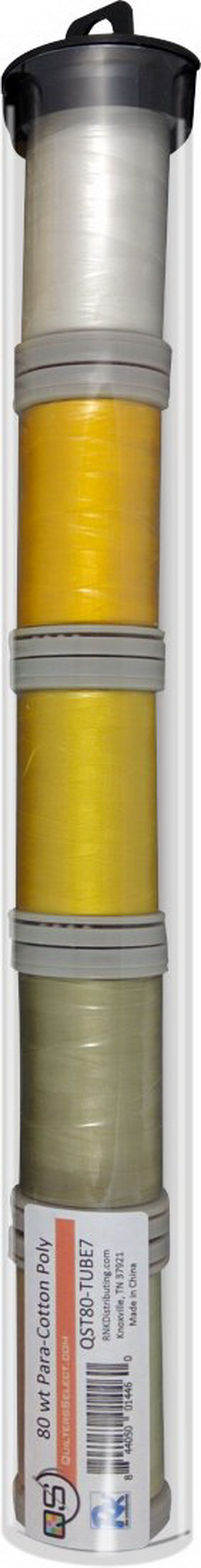 Quilters Select Para-Cotton Polyester Thread 80 Weight Tube Bundle 7
