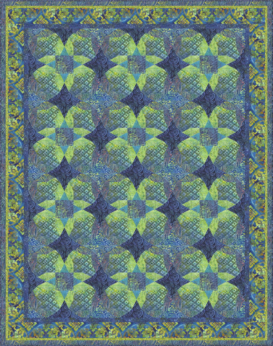 Ozarks in Bloom Fabric Quilt Kit by Raija Salomaa