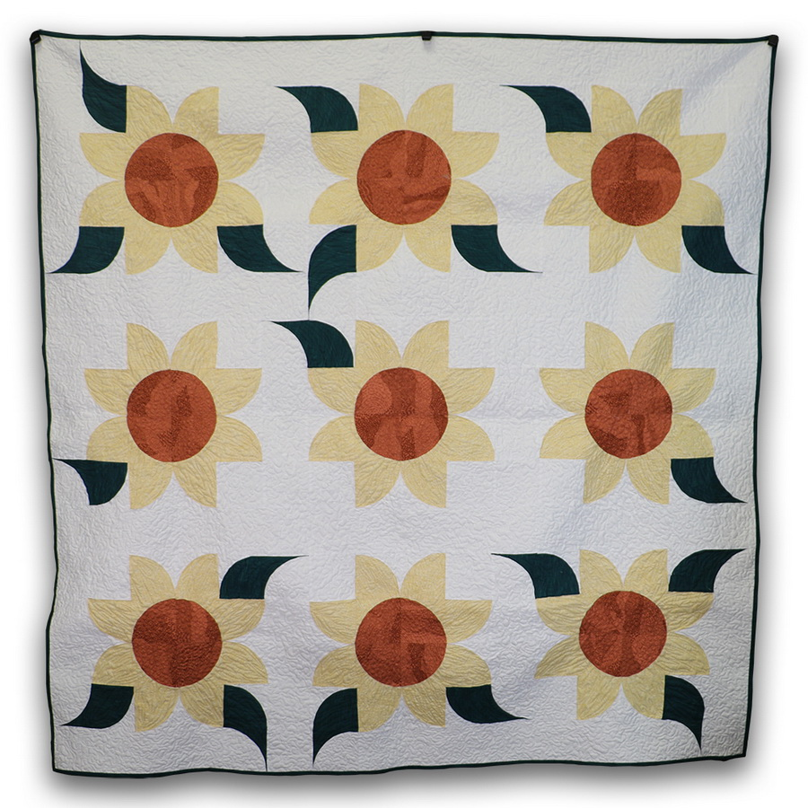 Ready to Sew Sunflower Wall Hanging Pre-cut Quilt Kit