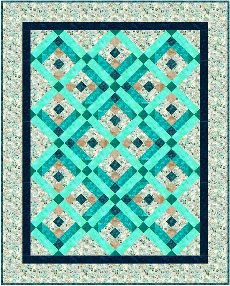 Ready To Sew Garden State of Mind Blue Quilt Kit