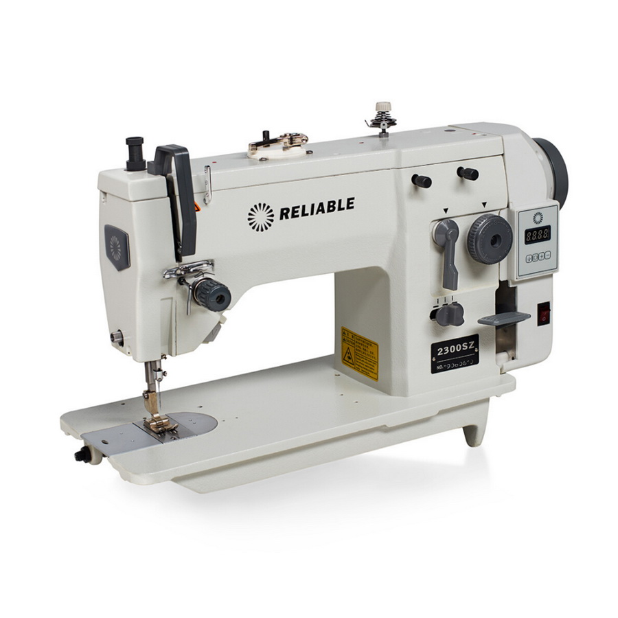 Reliable 2300SZ Professional Zig-Zag Industrial Sewing Machine with Direct Drive Servo Motor,  Assembled Table and Uberlight 3100TL Light Lamp