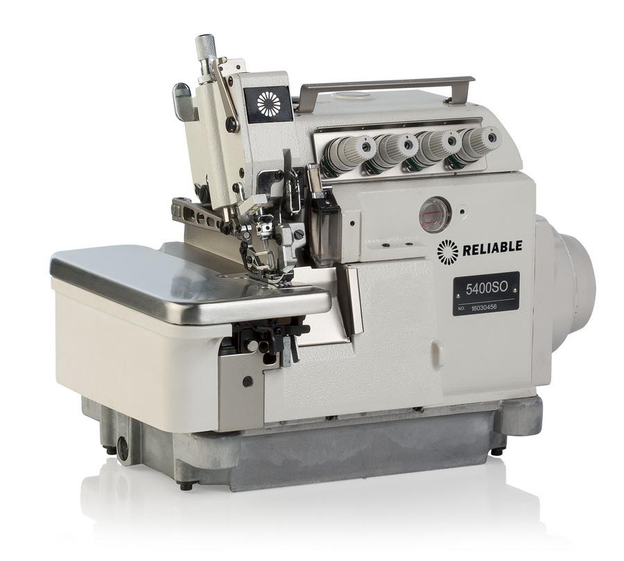 Reliable 5400SO 3/4 Thread Direct Drive Serger With Fully Assembled Table, Motor and Uberlight 3100TL Light Lamp