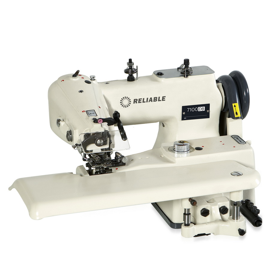 Reliable 7100DB Drapery Blindstitch Machine. Includes High Quality Table, SewQuiet Servo Motor, and SMD-LED Uberlight