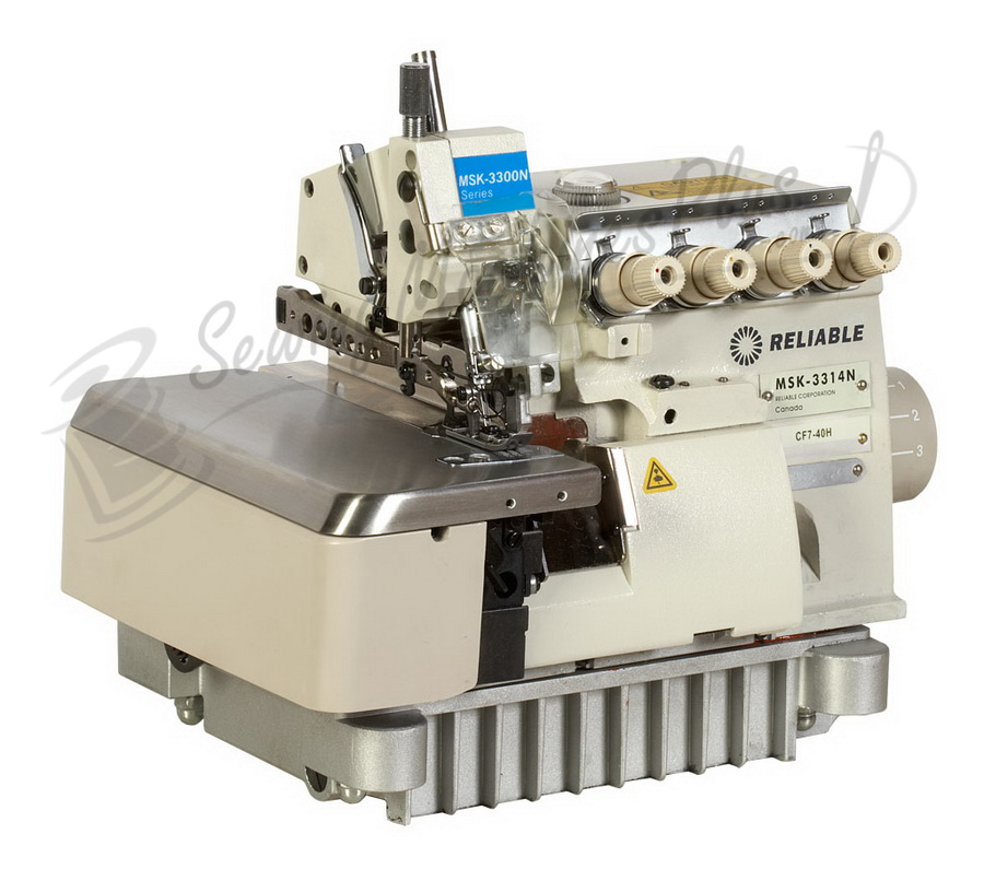 Reliable MSK-3314N-CF7-40H 3 / 4 Thread High Speed Serger, Fully Submerged Table & FREE Lamp