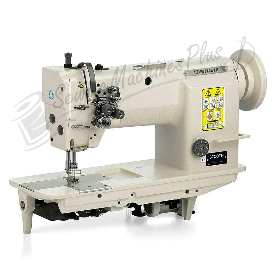 Reliable 3200TN Two Needle, Needle Feed Machine w/ Motor, Table, & Light