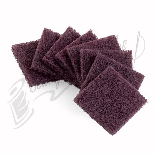 Reliable Abrasive Pad Set of 8 - Maroon