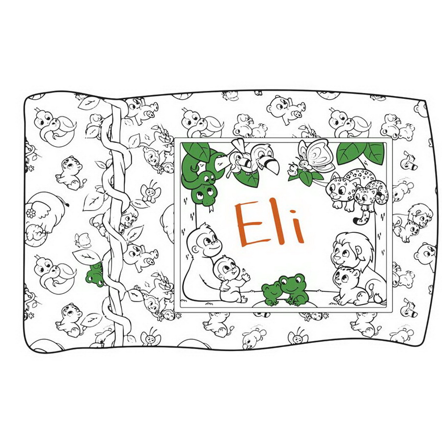 Riley Blake Jungle Coloring Pillow Kit