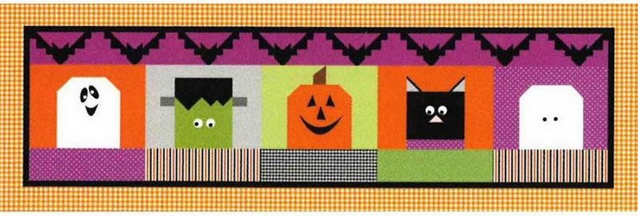 Riley Blake Table Runner of the Month: Halloween Blockheads