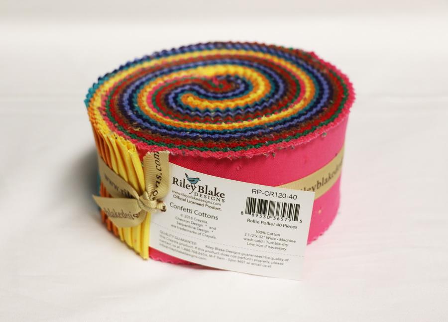 Riley Blake Designs - Crayola Solids 2.5 inch Rolie Polie 40 Pieces
