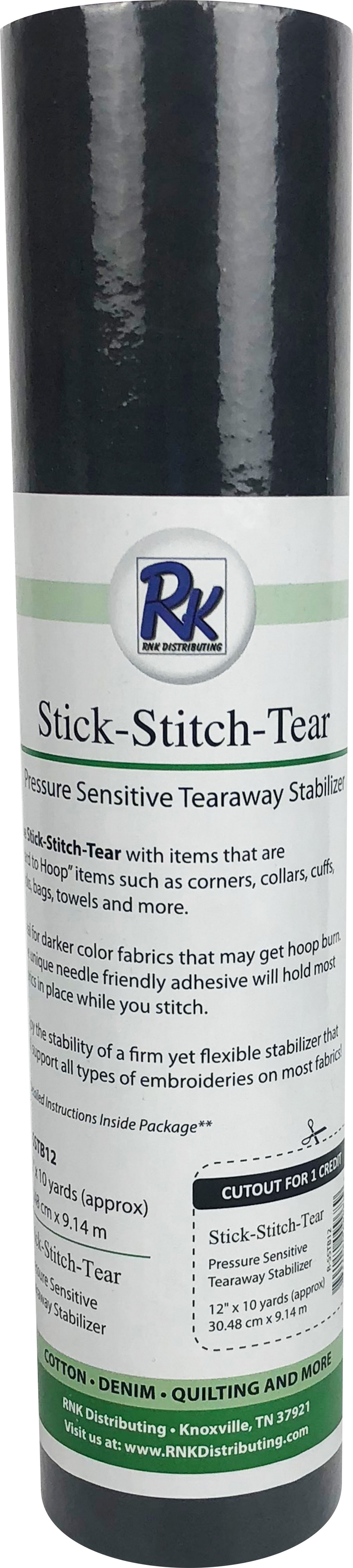 RNK Distributing Stick-Stitch-Tear Stabilzer (BLACK)