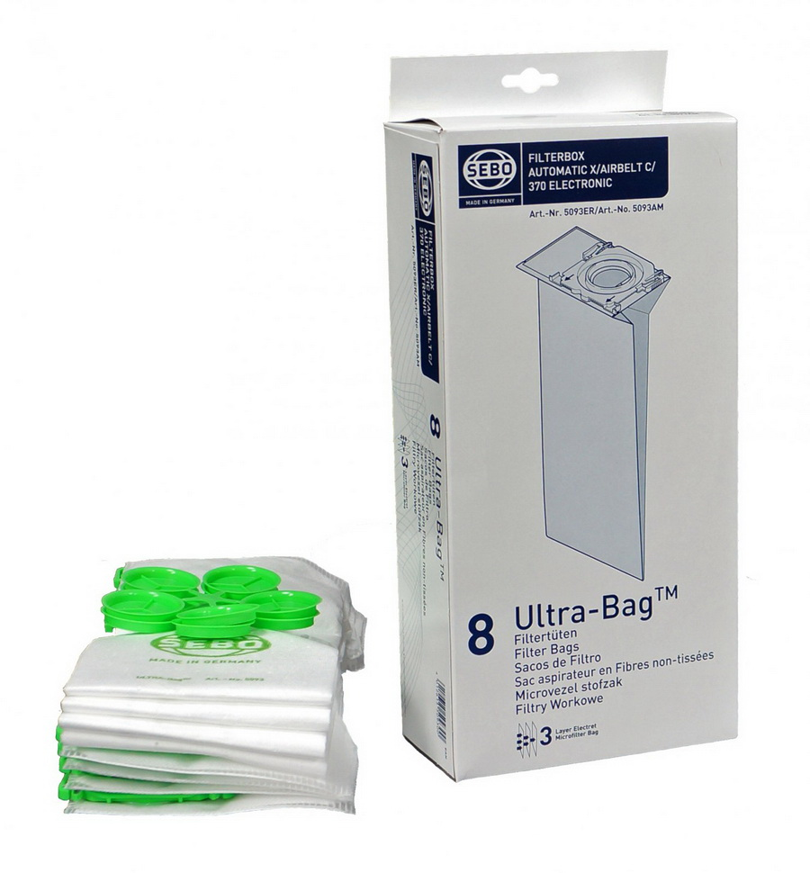 Sebo Filter Bag Box for X, G, C 300, 350 and 370 Machines