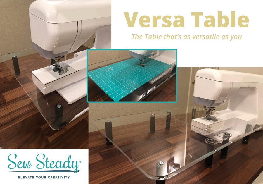 Sew Steady Versa Table Extendable Sewing Machine Extension Table