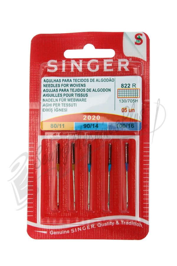 Singer Regular Point Needles - Size 11, 14, & 16
