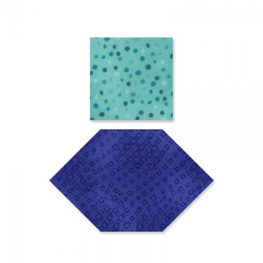 """Sizzix Bigz Die - Honeycombs & Squares, 1"""" & 1 1/2"""" Sides (M&G)"""