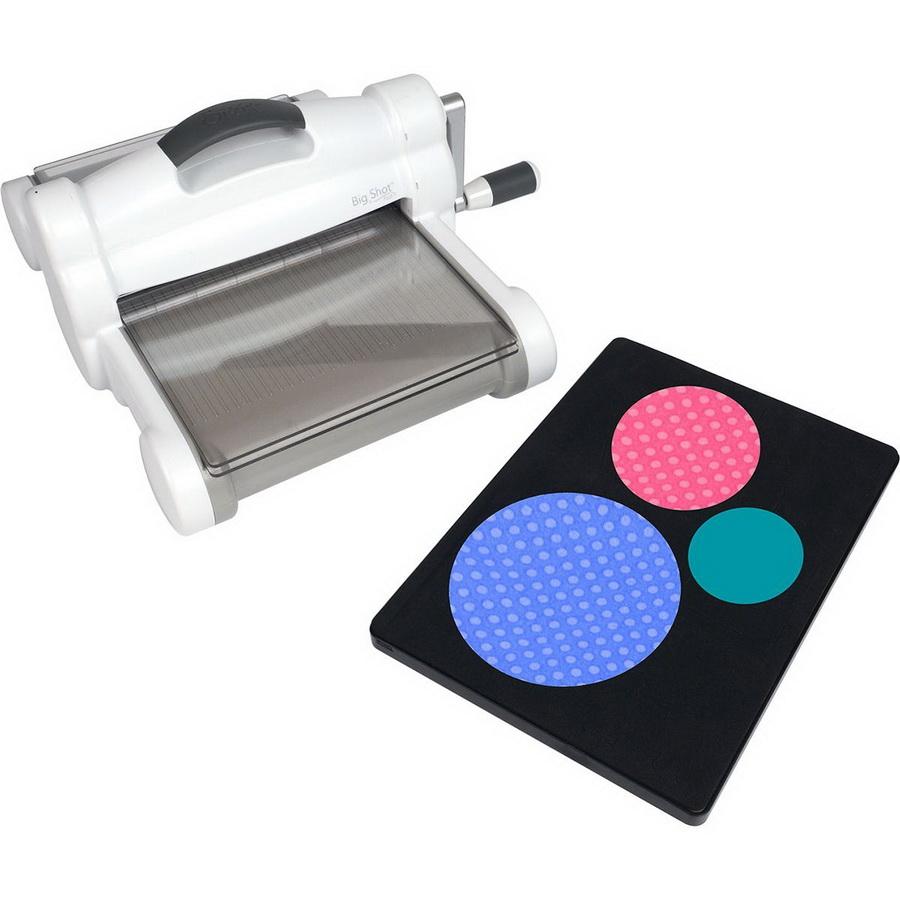 Sizzix Big Shot Plus Fabric Series Starter Kit (White & Gray) (US Version)