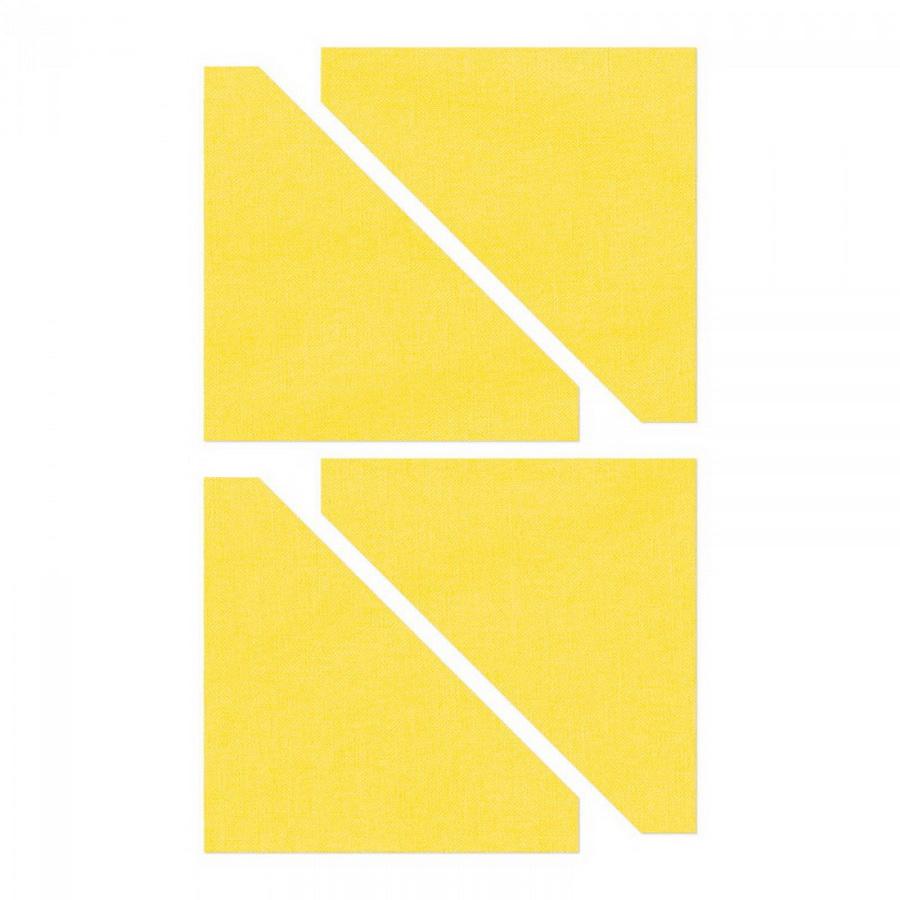 Sizzix Bigz Die - Half-Square Triangles, 2 1/2 inch Assembled Square