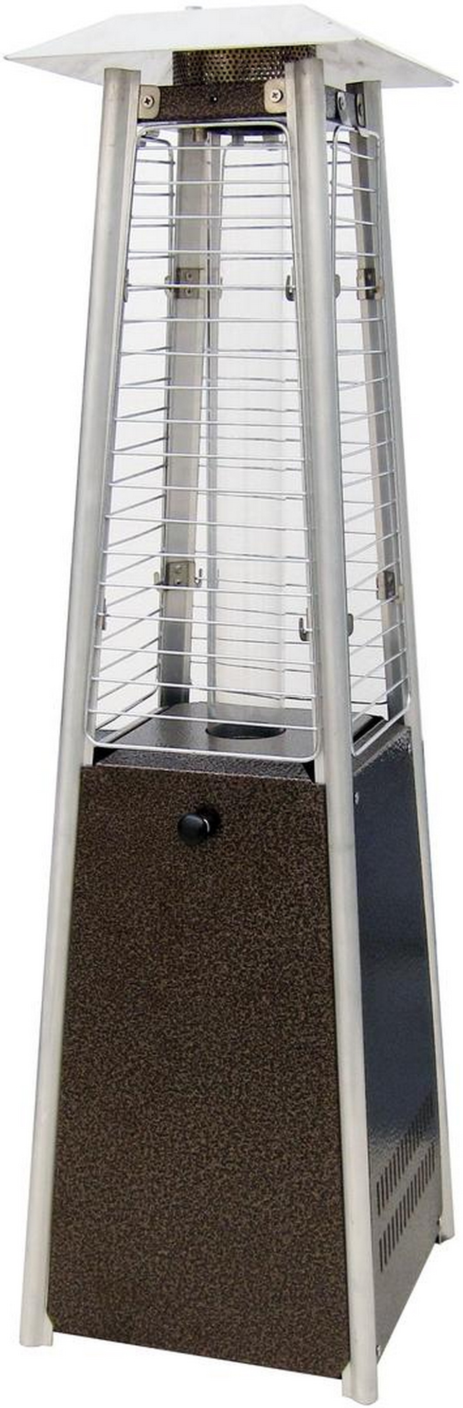 Sunheat Contemporary Square Design Tabletop Patio Heater (Golden Hammer or Stainless Steel Options Available)