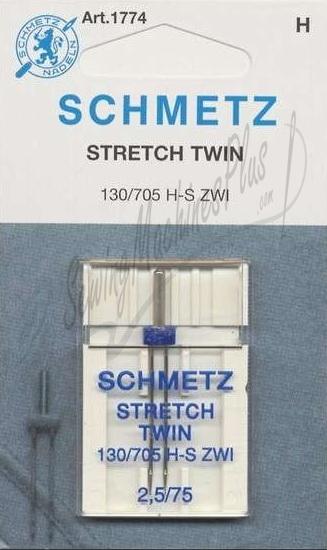Schmetz Stretch Twin Needles - Size 2.5 75/11