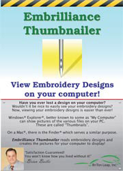 Embrilliance Thumbnailer Embroidery Software (BB-EMT10)