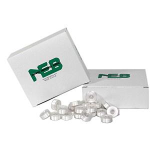 NEB Embroidery Machine Bobbins Box of 144 - Style L White