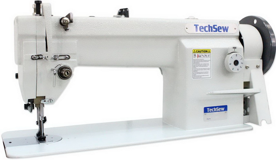Techsew 1460 Flatbed Compound Feed with Assembled Table and Motor Industrial Sewing Machine