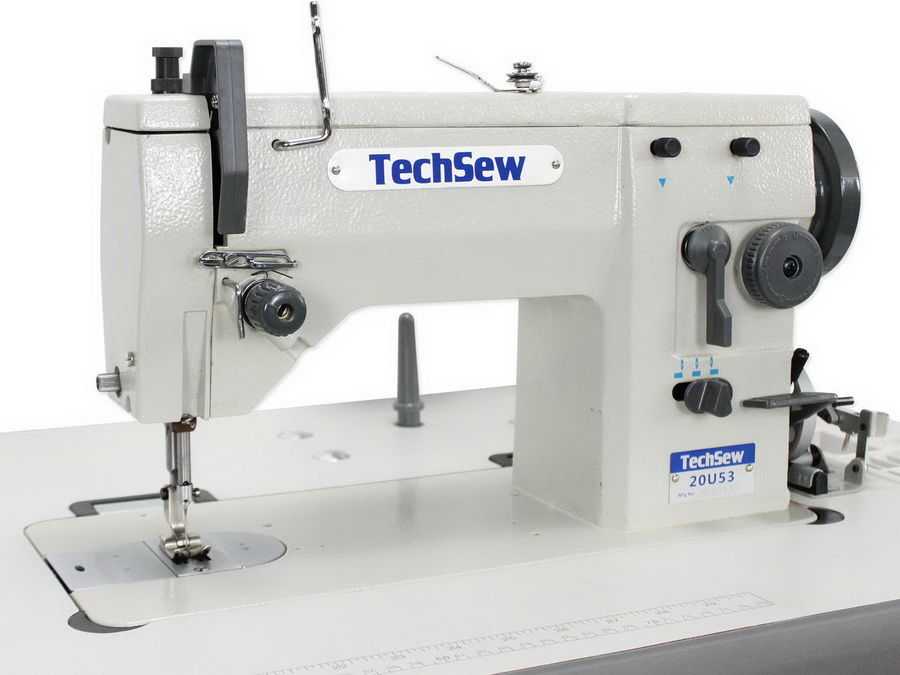 Techsew 20U53 Zigzag and Straight Stitch Industrial Sewing Machine with Assembled Table and Servo Motor