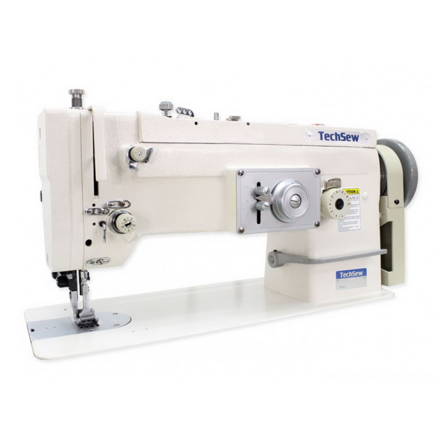 Techsew 2135 Flatbed Walking Foot ZigZag and Straigh Stitch Industrial Sewing Machine with Assembled Table and Motor