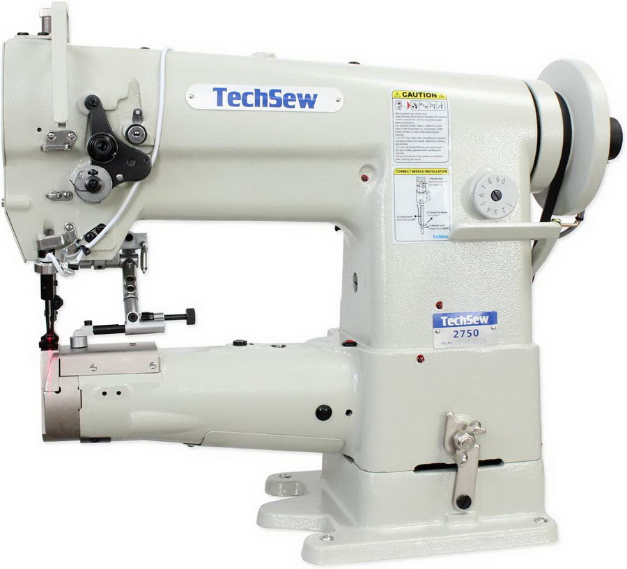 Techsew 2750 Pro Cylinder Large Bobbin Compound Feed Industrial Sewing Machine Industrial Sewing Machine with Assembled Table and Motor